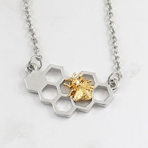 Honey Bee & Honey Comb Necklace